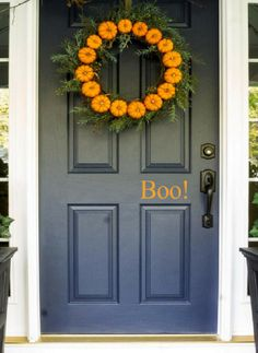 Boo Door Decal | Halloween Decorations | Fall Decor Ideas | Trick or Treat #affiliatelink