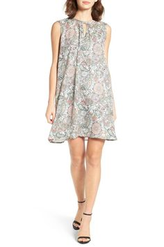 Pastel paisley patterns heighten the vintage allure of a breezy shift dress.  Jewel neck with button keyhole  Sleeveless  Lined  100% polyester  Hand wash cold dry flat Ruxton Shift Dress by Cupcakes & Cashmere. Canada