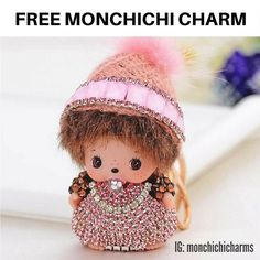 For a Limited Time Only: FREE ✨ Cute Pink Monchichi Charm Doll Keychain Accessory ✨ for Purses Bags Cars and Belts, just pay shipping. Please visit Monchichicharms.com to place your order. Follow and DM for questions at: IG: @monchichicharms