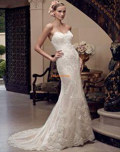 Srdíčko Nášivky S hlubokým výstřihem na zádech Svatební šaty 2015