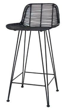 De meeste barkrukken zijn redelijk met elkaar vergelijkbaar, maar deze rotan barkruk van Hk-living springt er wel even uit zeg! De bar stoel gemaakt van rotan h