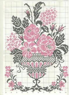 Cross Stitch Bird, Cross Stitch Flowers, Cross Stitch Designs, Cross Stitching, Cross Stitch Embroidery, Hand Embroidery, Cross Stitch Patterns, Embroidery Flowers Pattern, Flower Patterns