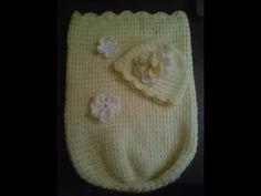How to crochet a baby cocoon.- Easy level - Cocoon de bebe en crochet