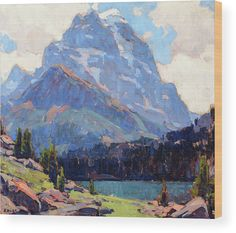 Edgar Payne Wood Print featuring the painting Shadowed Peaks by Edgar Payne Edgar Payne, Peak Oil, Master Studies, Dream Mansion, Mountain Paintings, Rustic Feel, Got Print, Any Images, Landscape Paintings