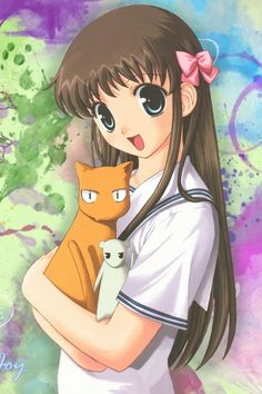 Tohru, Kyo, and Yuki. (Fruits Basket)