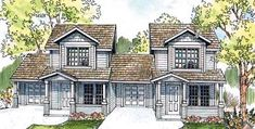 Elevation of Bungalow   Country   Multi-Family Plan 69642