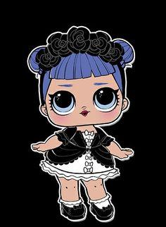 l doll midnight Lol Dolls, Cute Dolls, Doll Party, Baby Alive, Kids Prints, Shopkins, Art Plastique, Big Eyes, Cute Drawings