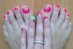 Matching summer mani/pedi!