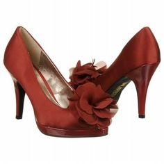 Women's dark red dress shoes
