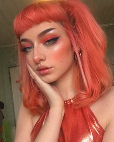 New hair tutorial drawing products Ideas is part of eye-makeup - eye-makeup Cute Makeup, Makeup Looks, Hair Makeup, Aesthetic Hair, Aesthetic Makeup, Brown Aesthetic, Beauty Make-up, Hair Beauty, Peach Hair Colors