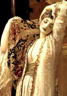 Detail from Frederic Lord Leighton's Light of the Harem, 1880 …inspirational cloth muse!…