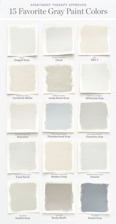 Color Cheat Sheet 15 Perfect Gray Paint Colors Apartment Therapy