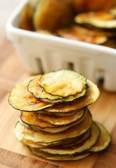 Baked Zucchini Chips-Easy Veggie Healthy Chips Recipe Ideas