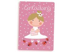 Der große Tag steht bevor aber wissen eigentlich alle Freunde und Verwandte bescheid??  Mit dieser zuckersüssen Ballerina Einladungskarte für Mädchen von Millimi können alle eingeladen werden...Jetzt kann die MädchenParty ja steigen...