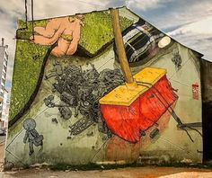 "575 curtidas, 3 comentários - Arte Sem Fronteiras (@artesemfronteiras) no Instagram: ""Artwork (mural) by Liqen Jakal in Spain Instagram : @liqen Facebook : LIQEN Site : liqen.org  ASF :…"""