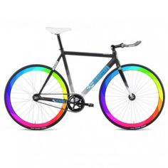 Rainbow Color Fixed Gear Waterproof Bike Wheel Decals Two Sides
