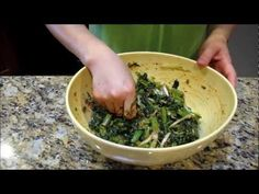 Korean Kale Salad with Soybean Paste (케일과 아마씨 무침) Korean Side Dish by Omma's Kitchen