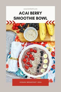 How to make a tik tok acai berry bowl recipe. Acai berry bowls are easy to make healthy breakfasts. Add your favorite toppings to your smoothie bowl recipe. This mixed berry acai bowl recipes healthy is easy to make. It's a vegan smoothie bowl with almond milk. Use a banana to thicken this healthy smoothie bowl recipe easy. Make an acai berry smoothie bowl with your favorite fruits. Acai Berry Bowl, Acai Berry Powder, Mixed Berry Smoothie, Berry Smoothie Recipe, Smoothie Bowl, Acai Bowl Recipes Healthy, Healthy Breakfasts, Healthy Cooking, Cooking Tips