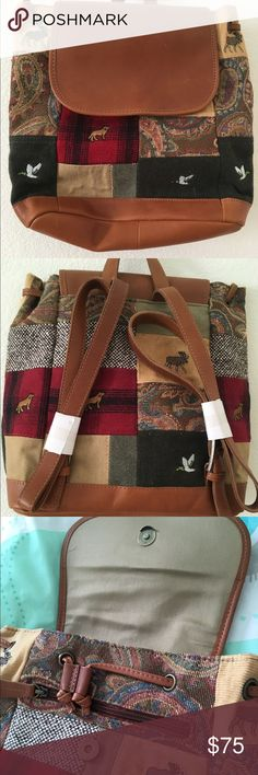 Selling this L.L. Bean Patchwork Backpack New on Poshmark! My username is: mj394. #shopmycloset #poshmark #fashion #shopping #style #forsale #L.L. Bean #Handbags