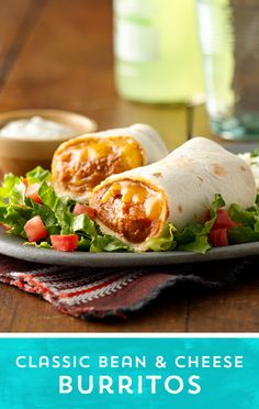 Jazz up classic burritos! These Classic bean and cheese burritos are packed with flavor, have only 4 ingredients, and come together in a snap!