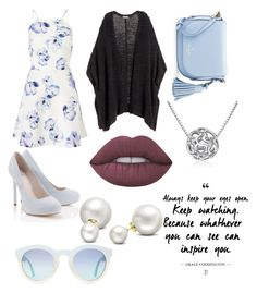 """""""Spring Evening"""" by ilovestevers ❤ liked on Polyvore featuring Lipsy, H&M, Kate Spade, MoMo, Lime Crime and Allurez"""
