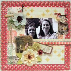 A BEAUTIFUL DAY *** MY CREATIVE SCRAPBOOK*** - Scrapbook.com (created by Luzma) Wendy Schultz onto Scrapbook Layouts.