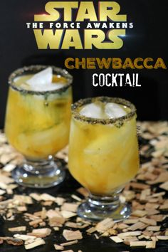 Chewbacca cocktail (Star Wars Inspired Drink). This Chewbacca cocktail (Star Wars Inspired Drink) is perfect for the adults! This Chewbacca cocktail is a mix of whisky lemon juice and maple syrup that has an awesome flavor