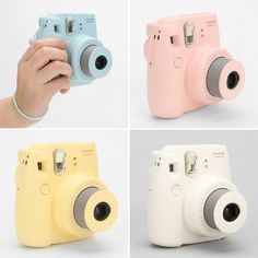 Love the pastel finishes on these mini instant cameras.