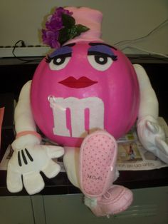 Pumpkin decorating | it s not the great pumpkin but the great pink pumpkin m m her she is ...