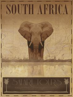 South Africa travel poster