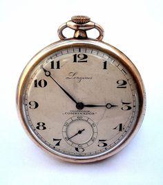Antiguo Reloj Bolsillo Suizo LONGINES Open Face por shopvintage1