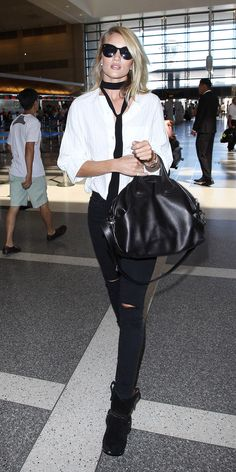Rosie Huntington-Whiteley's Chic Street Style - September 13, 2015  - from InStyle.com