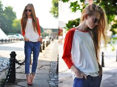 dress up a casual outfit with a pair of simple heels