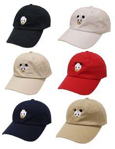 19f1f7474da Slouch panda face gold chains adjustable curved bill dad hat baseball cap  emoji