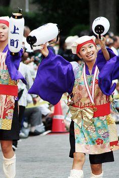 Kamimachi Yosakoi Naruko-Ren [上町よさこい鳴子連 / スーパーよさこい2006] by d'n'c, via Flickr #yosakoi, #よさこい