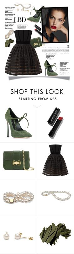 """""""#lbd"""" by zoey-heart ❤ liked on Polyvore featuring Casadei, Bobbi Brown Cosmetics, Monique Lhuillier, Victor Xenia, Tiffany & Co. and LBD"""