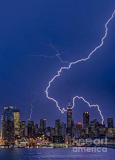 Lightning Bolts. Susan Candelario New York City NYC skyline
