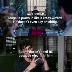 Matthew Daddario describing Alec's feelings on seeing Magnus at his wedding....
