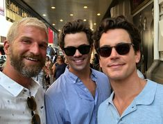 Lucky fan got Matt and Andrew as they walked on 45th St.