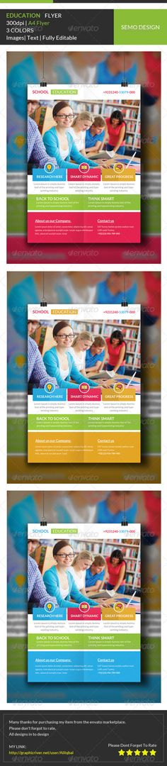 Kindergarten Flyer and Ad Template Design by StockLayouts - kindergarten brochure template