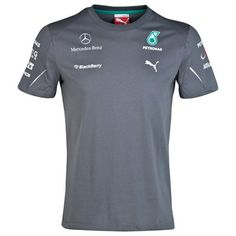 2014 Mercedes AMG PETRONAS Team T-Shirt Grey