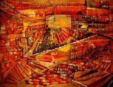 Vieira da Silva           Nasce em Lisboa em 1908.Em 1911 morre o seu pai.Instala-se com a sua mãe na casa do avô materno.Em 1919 teve lições de música,pintura e desenho.Em 1924 estuda escultura na escola de Belas Artes de Lisboa. Em 1928 vai com a sua mãe em Paris. Frequenta a Academia La Grand Chaumiére.         Em 1930 casa com o pintor Arpad Szenes. Em 1933 tem a sua primeira exposição individual em Paris.