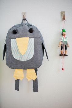 """Oliver + S Penguin Backpack. Pattern from """"Little Things To Sew."""""""