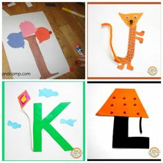 These letter of the week crafts give young kids a fun way to learn what sounds to associate with what letter. All the letters in one place! Teaching Abcs, Preschool Writing, Preschool Letters, Preschool Activities, Preschool Schedule, Montessori Math, Preschool Lessons, Teaching Tools, Teaching Resources