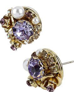 BETSEYS BEST VINTAGE PURPLE EARRING PURPLE accessories jewelry earrings fashion