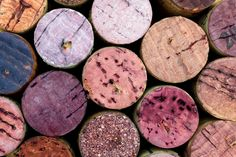 A royalty-free #stock #photography image of a Red-Wine Stained Corks.  Download the high-resolution 3840x2560 image for your #design projects at: http://su.rfac.es/cork/red_wine_stained_corks/