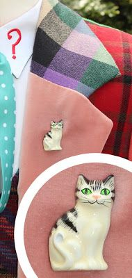 Making My 6th Doctor Costume: Sixth Doctor cat brooch index