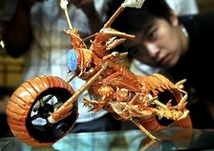Huang Mingbo's Lobster Motorcycle