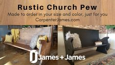 Looking for the perfect rustic church pew bench for your entryway decor or to add a special touch to your dining room? We'd love to handcraft a pew bench for you! Solid Wood Furniture, Handmade Furniture, Dining Room Furniture, Custom Furniture, Church Pew Bench, Church Office, Knotty Alder, Building Furniture, Solid Wood Dining Table