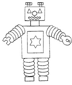 Robot coloring pages Beep Beep Robot Blog and Craft